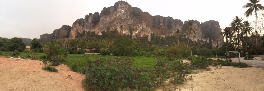limestone cliff panorama krabi aonang