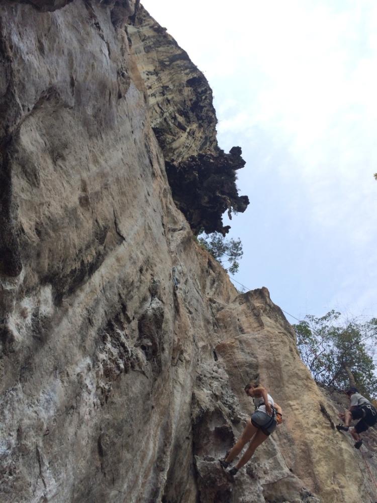 rock climbing railey beach