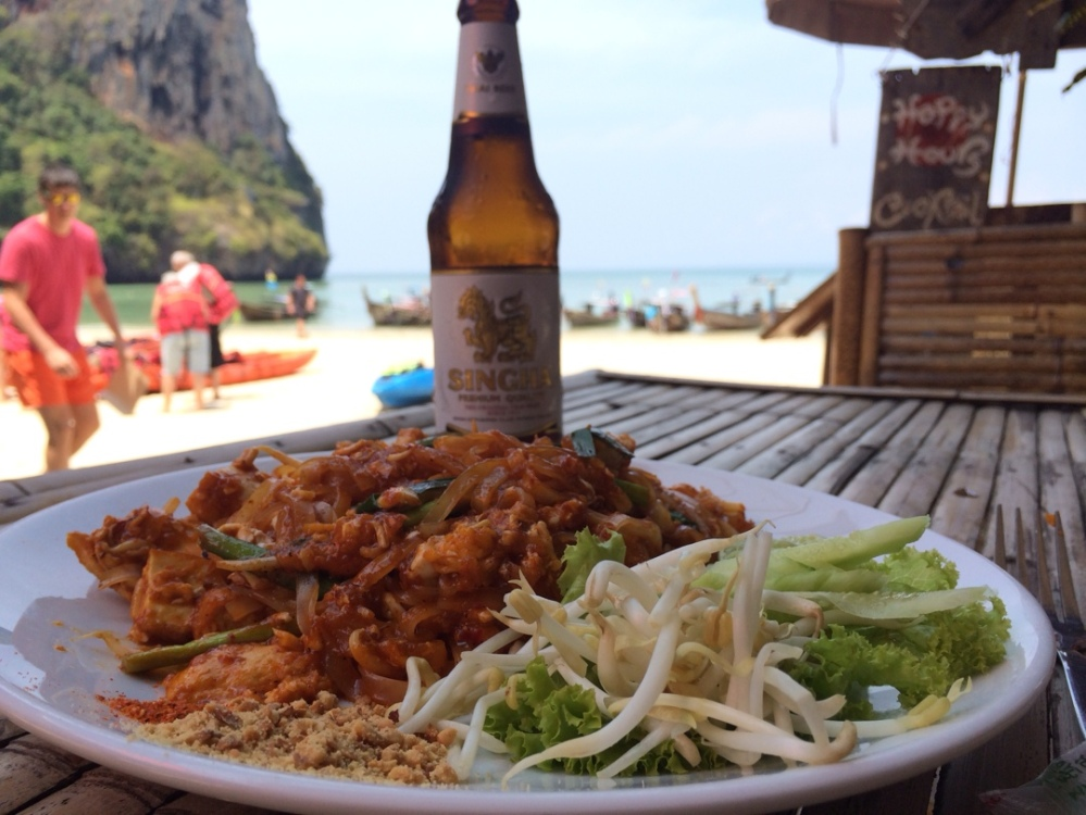 lunch at railay beach