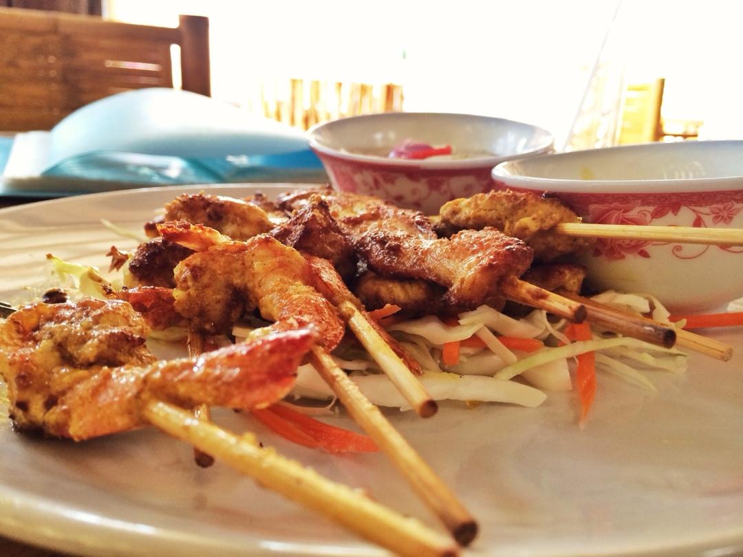 Thai chicken satay on ko lanta