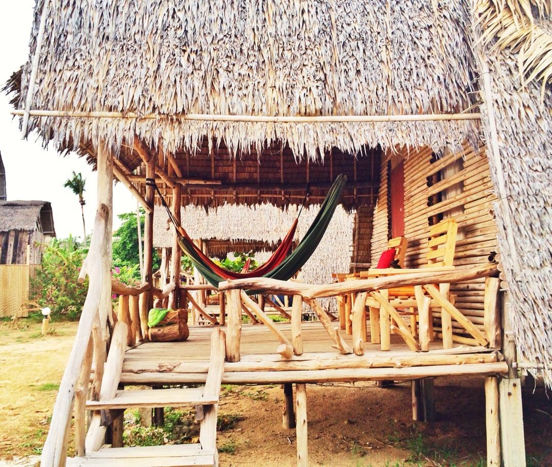 Thailand beach hut and hammock