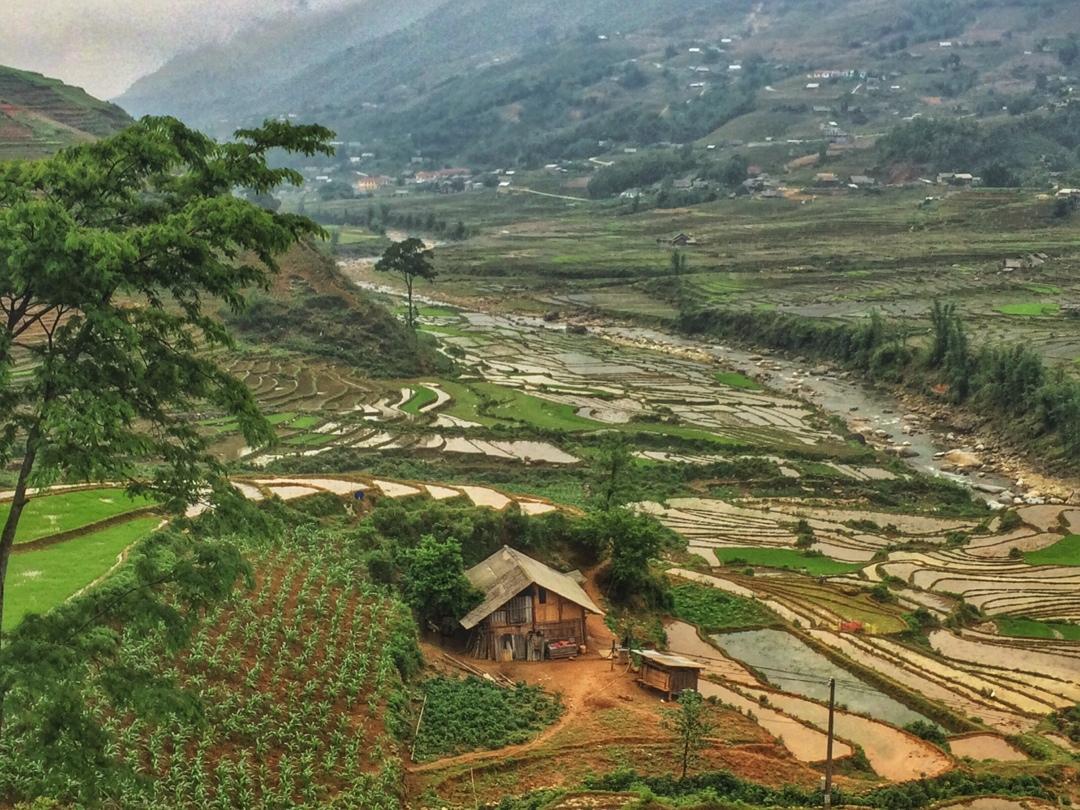 Hmong village in sapa valley