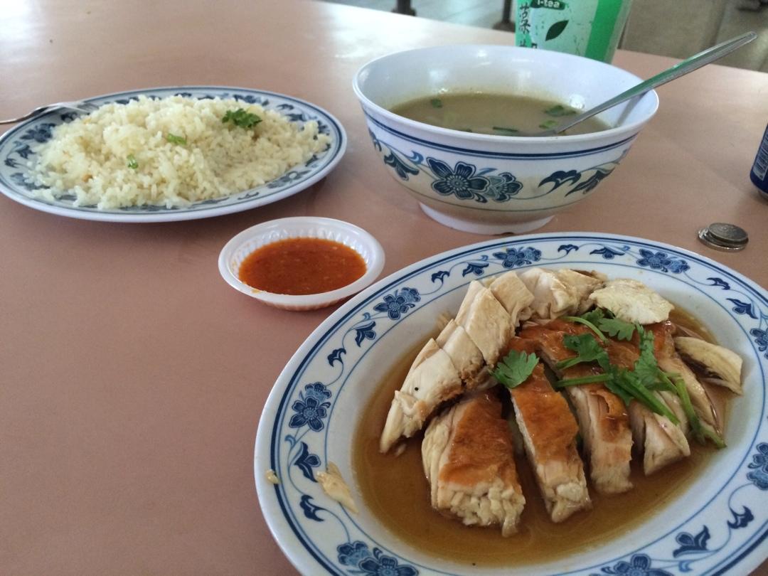 Singapore maxwell food court rice chicken