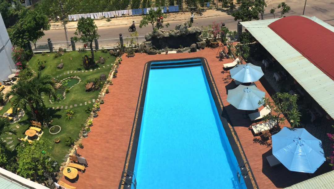 Grassland hotel with pool in hoi an