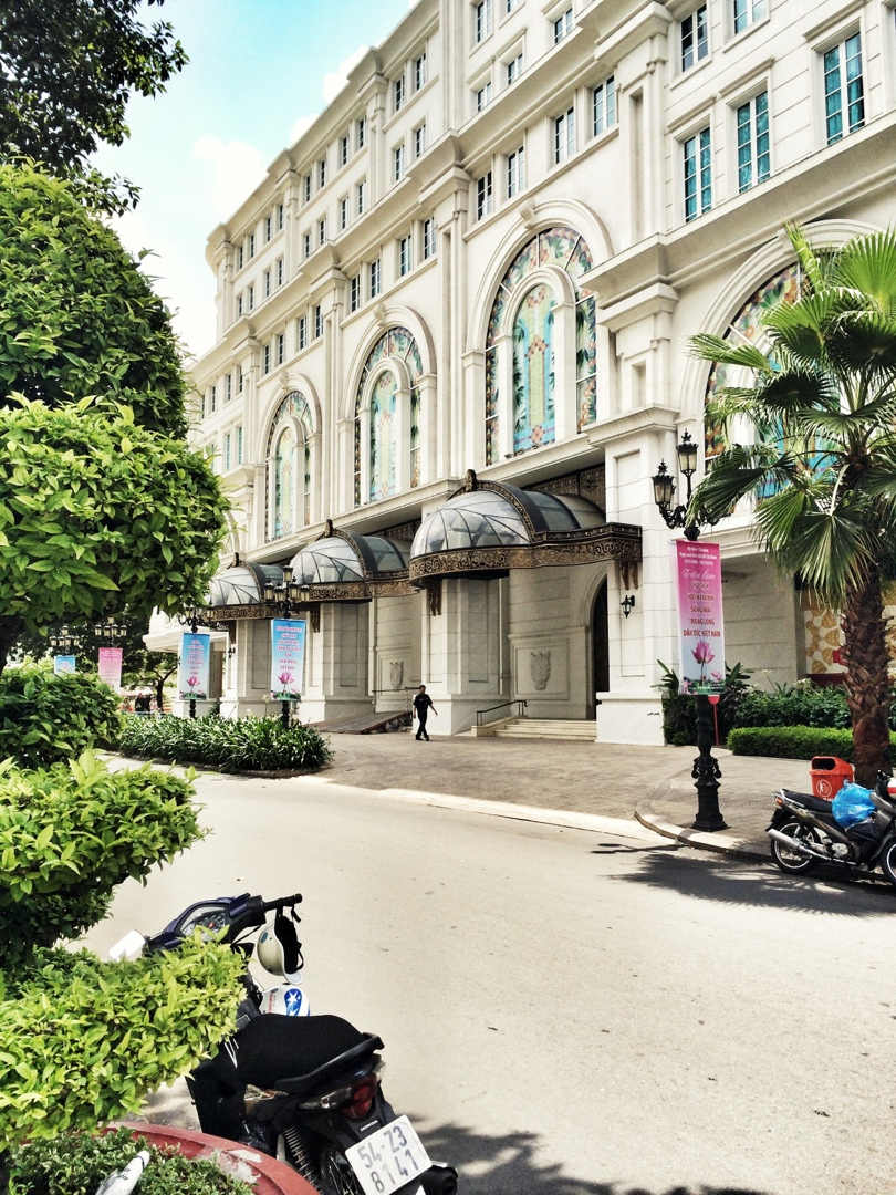 French inspired boulevard in saigon