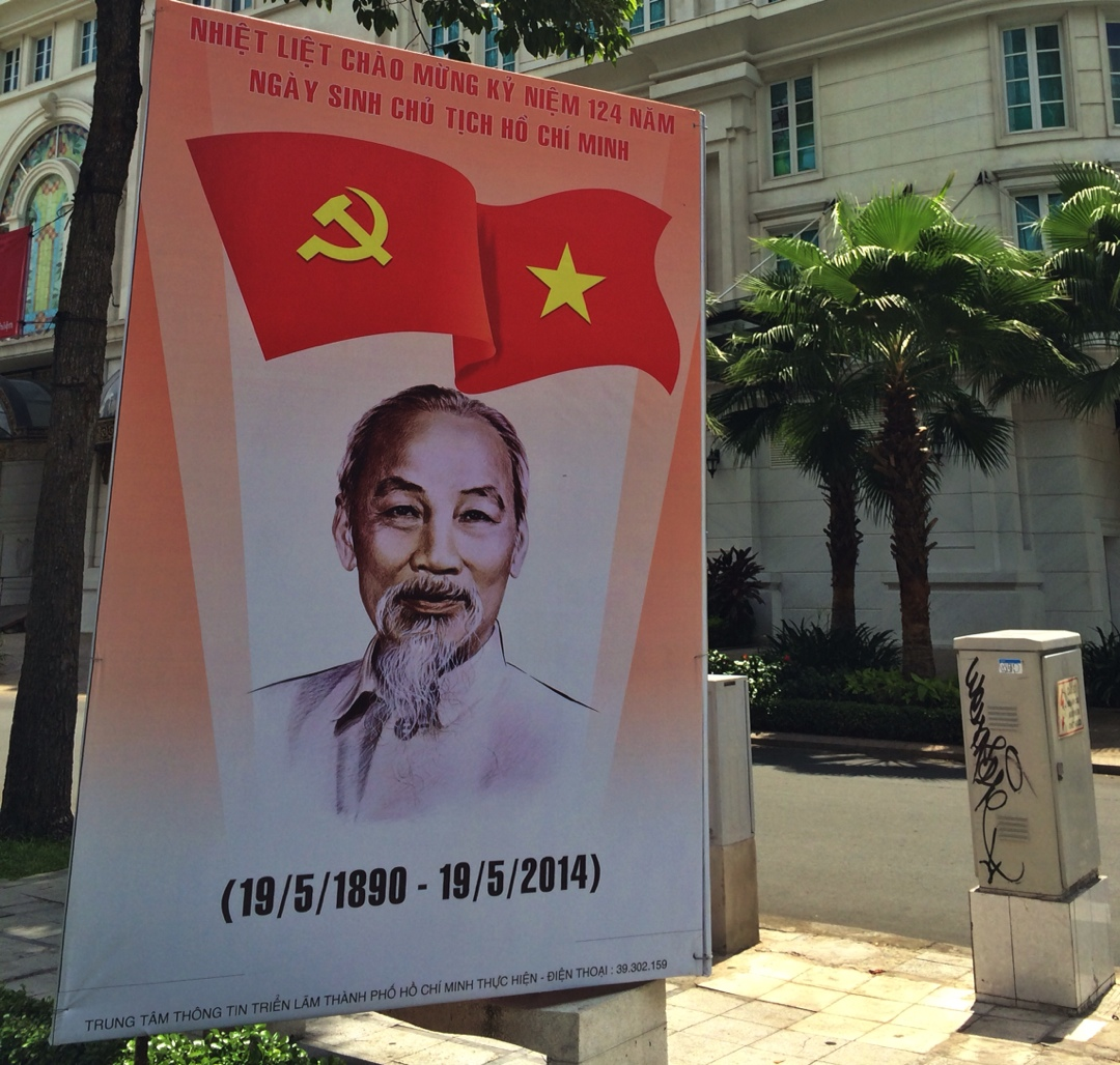 Uncle Ho poster in Saigon