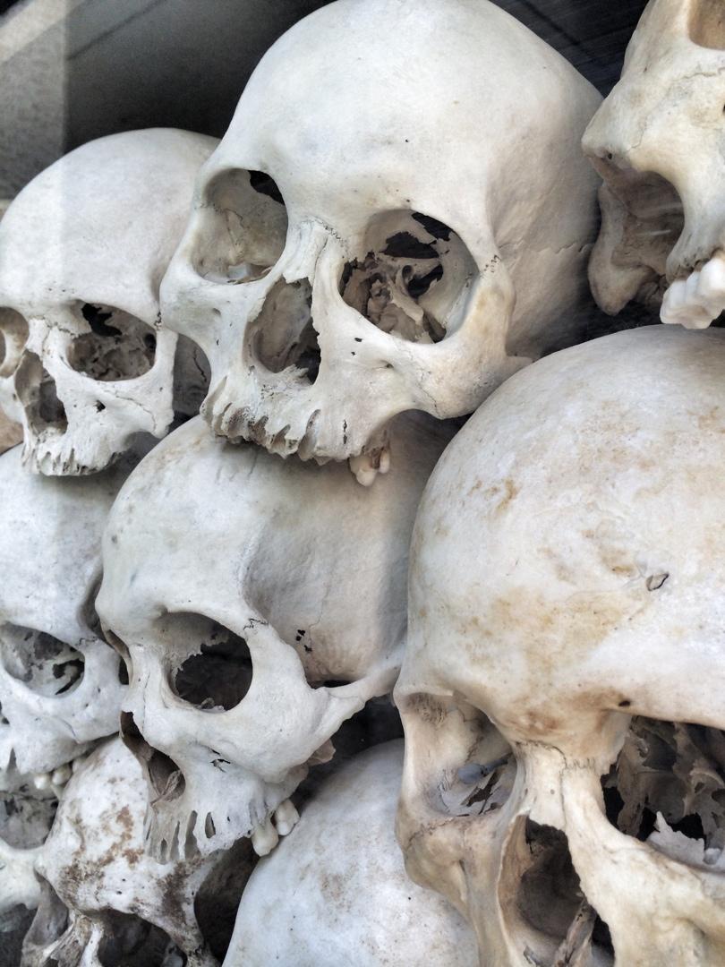Skulls at killing fields