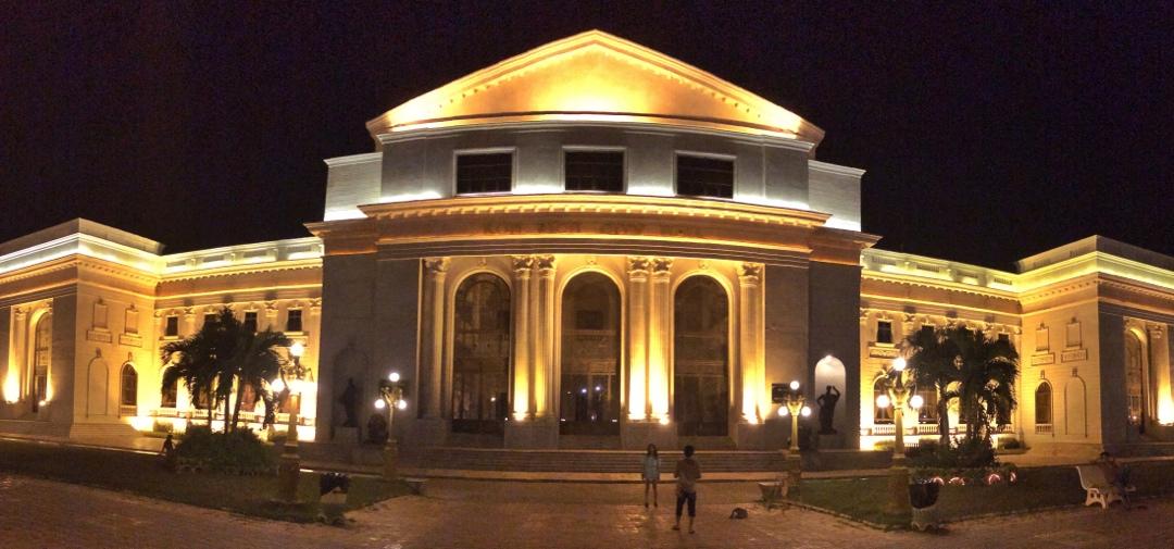 Koh pich city hall by night