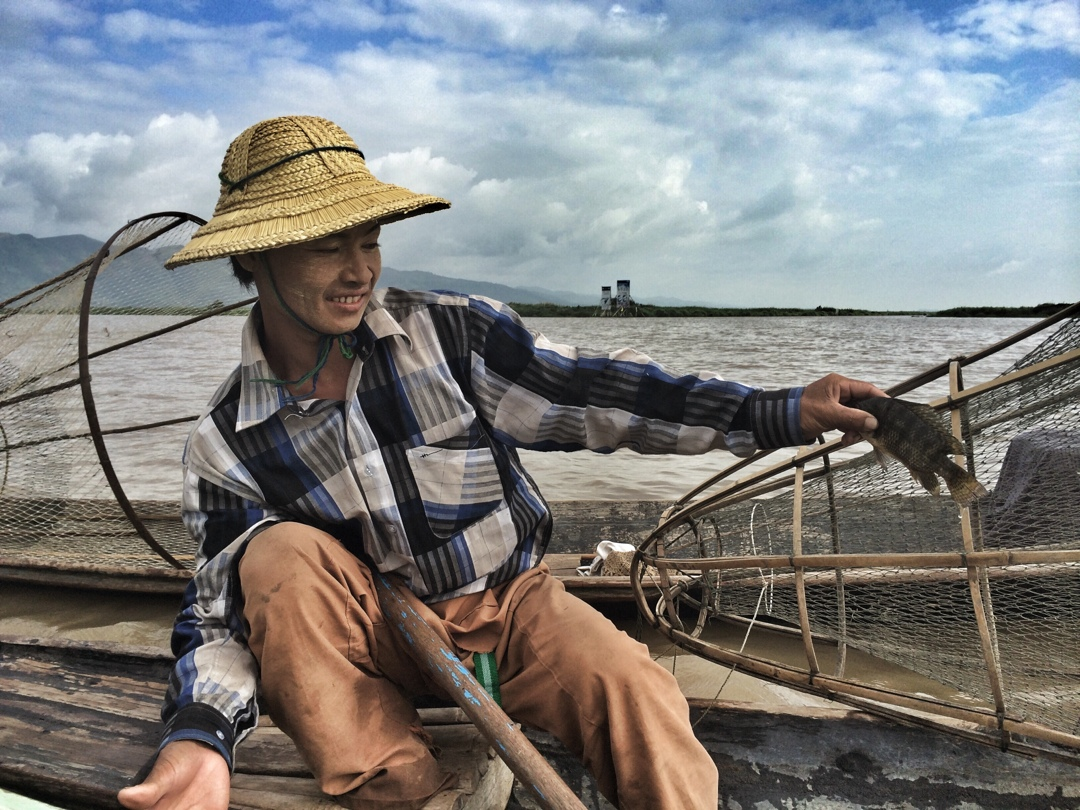 Local fisherman at inle lake