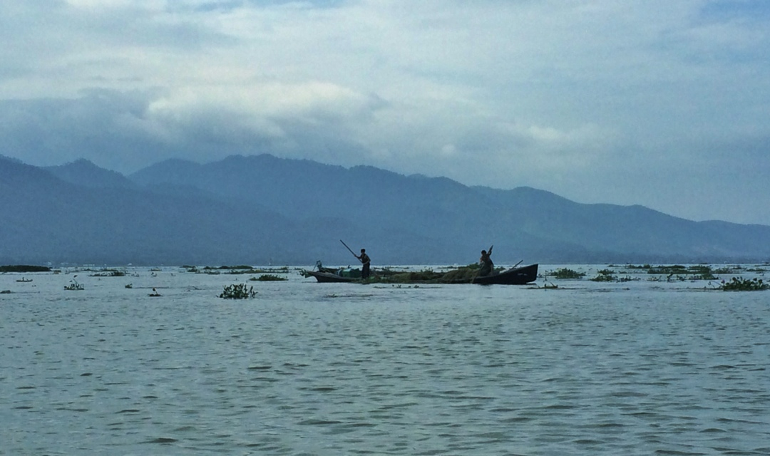 Fishers on inle lake