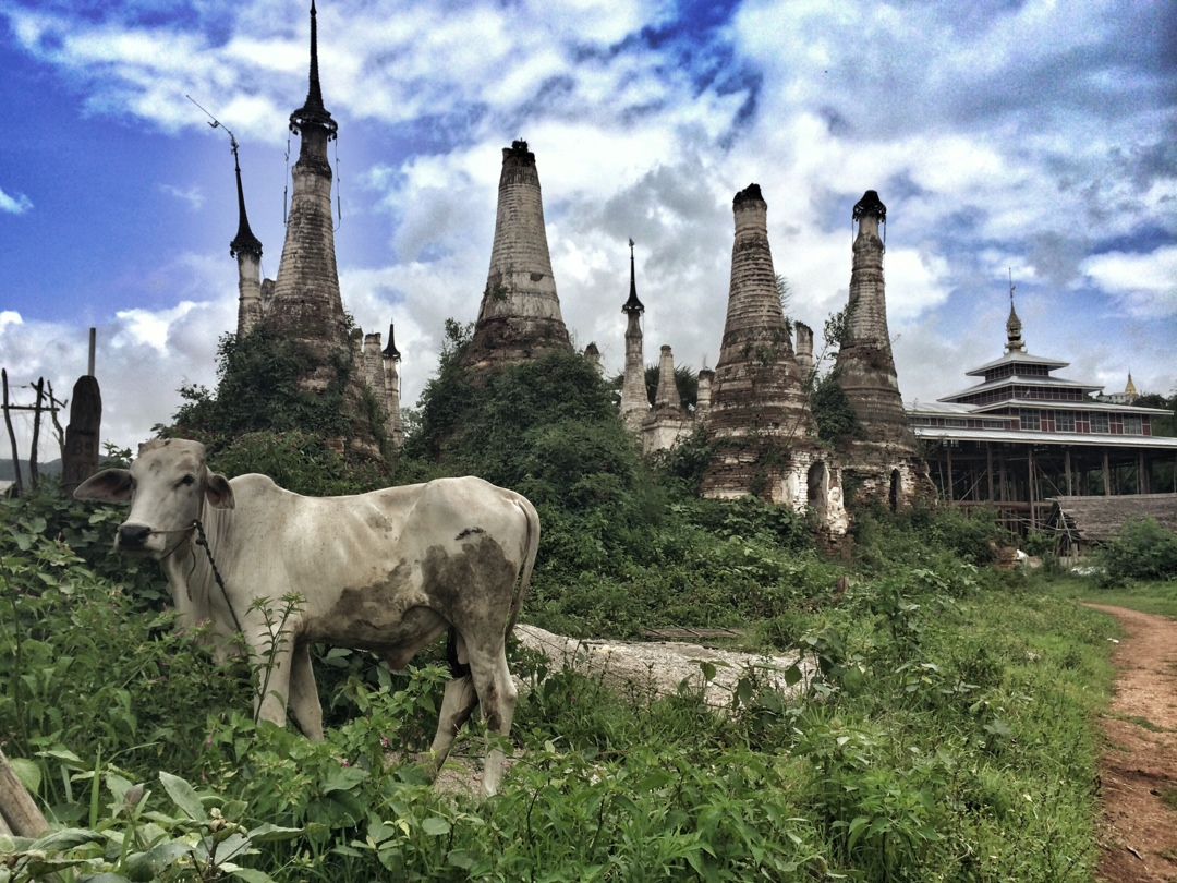Old pagodas in myanmar shan state