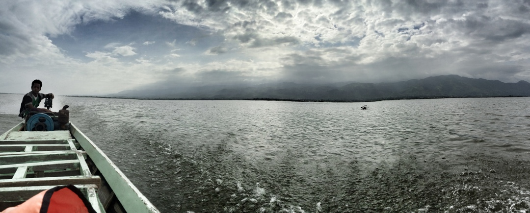 Panorama view of inle lake