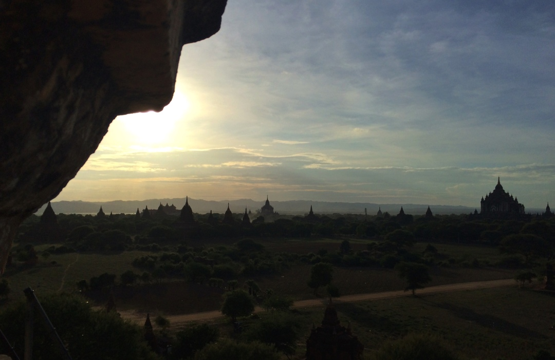 Bagan sunset panorama