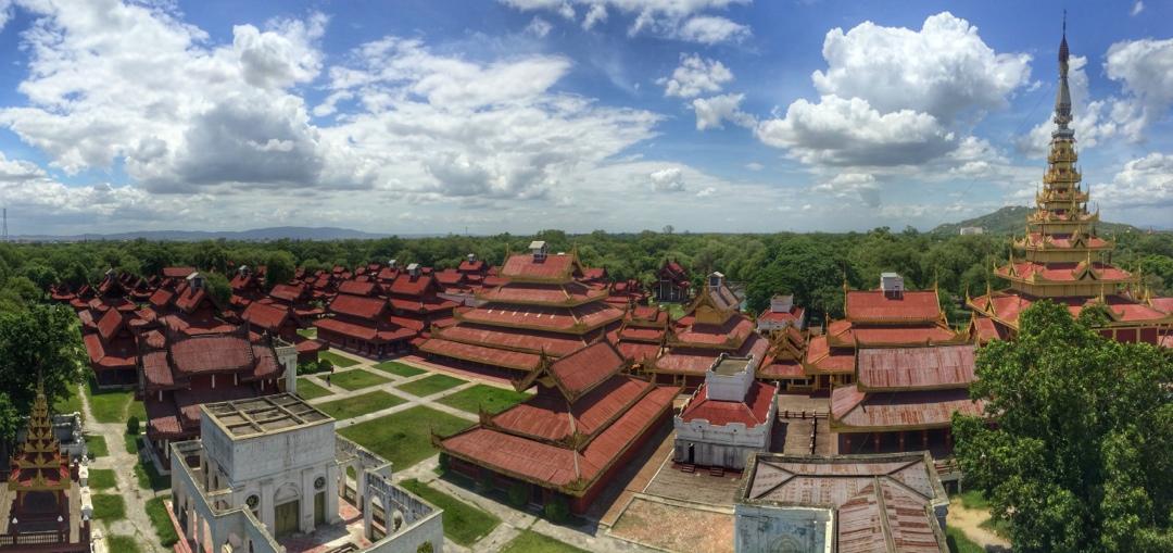 Mandalay royal palace view from watch tower
