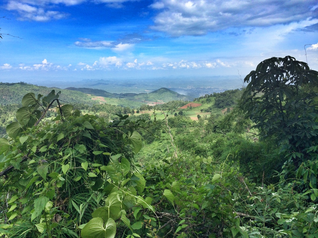 views on hsipaw from mountain