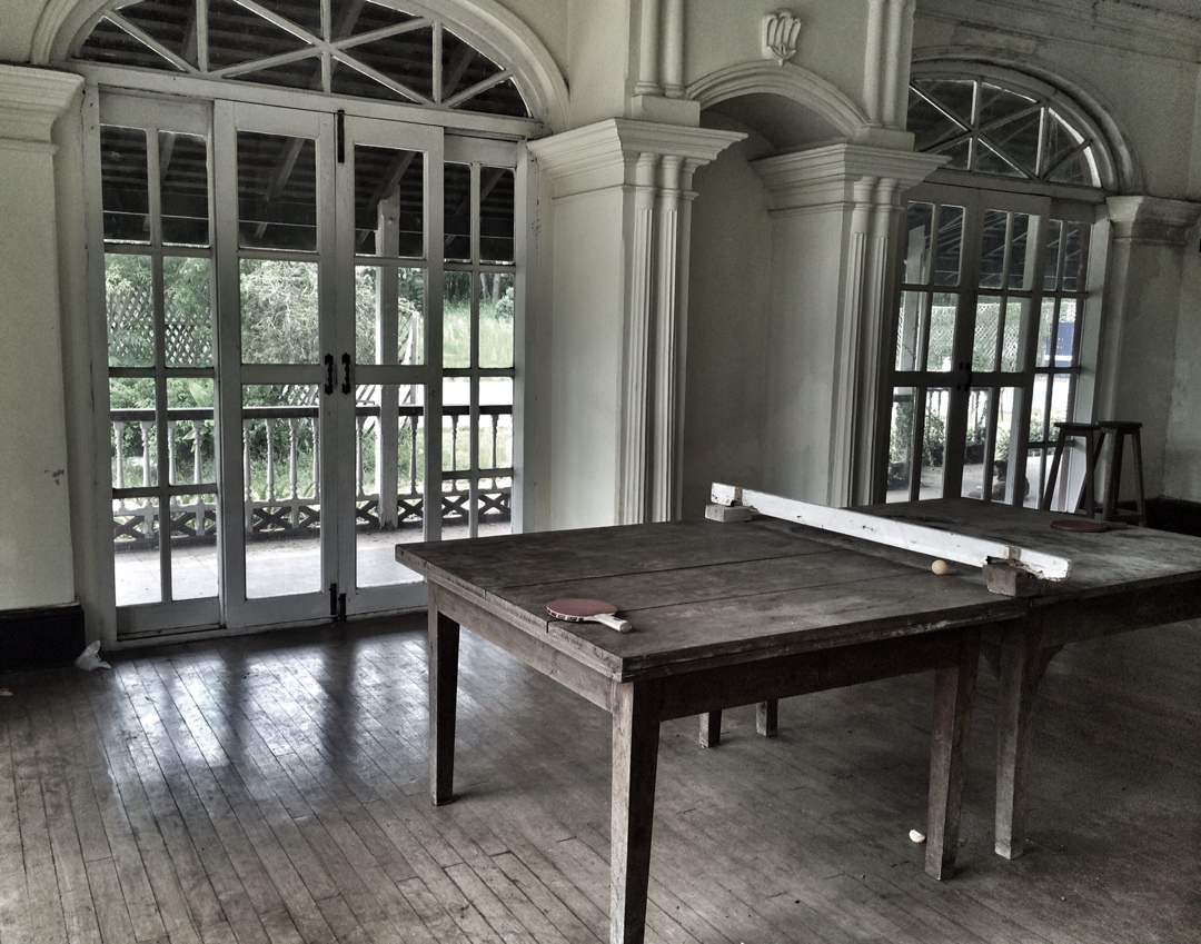 ancient table tennis table in candacraig mansion in pyin oo lwin