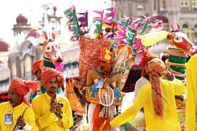 Festival parade in Mysore India