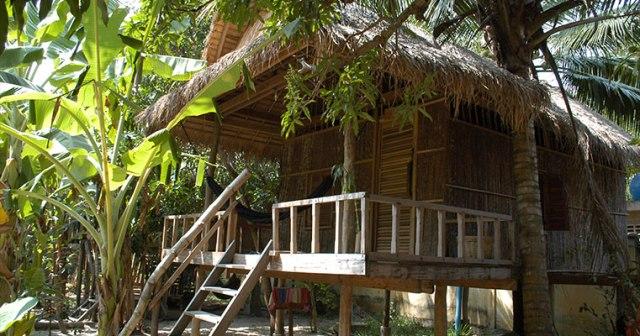 Samon Village riverside bungalows in Kampot Cambodia