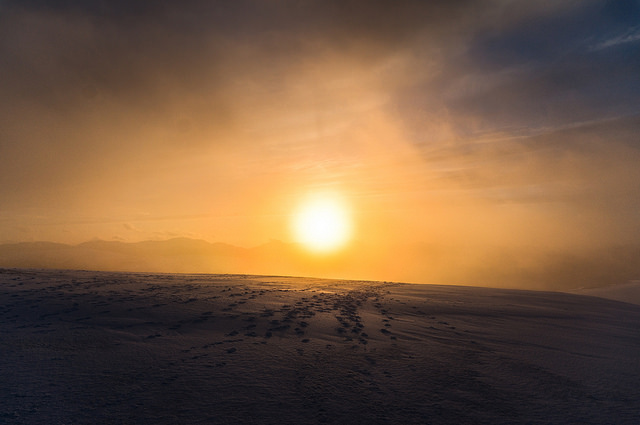 Trekking until sunset