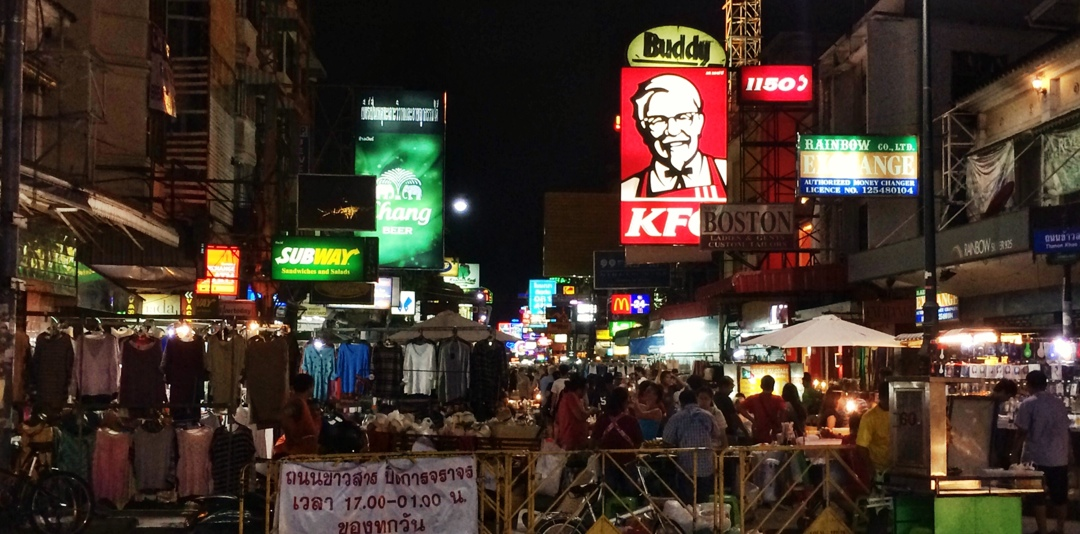 Kao San, Bangkok's backpacker hub by night and day