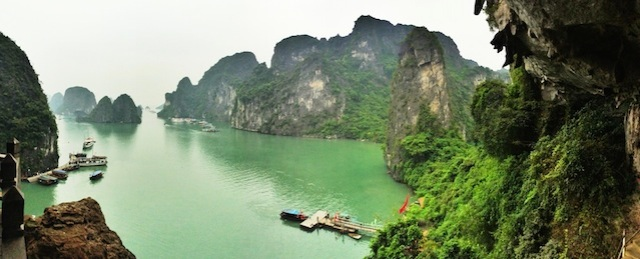 View from the Halong Bay cave