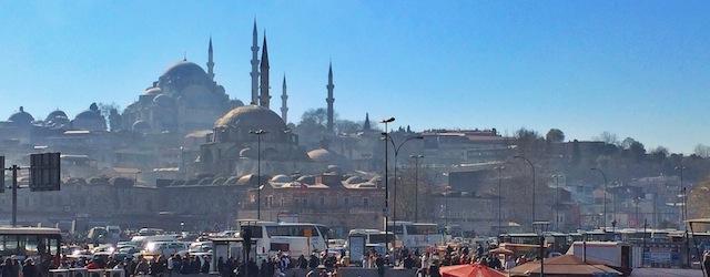 Mosque skyline in Istanbul Turkey