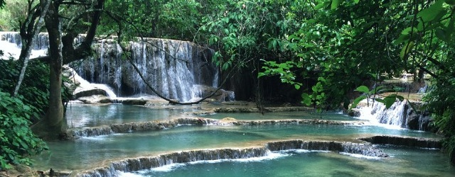 Most beautiful waterfalls in Laos
