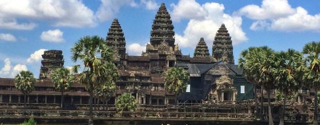 temple of angkor wat close up