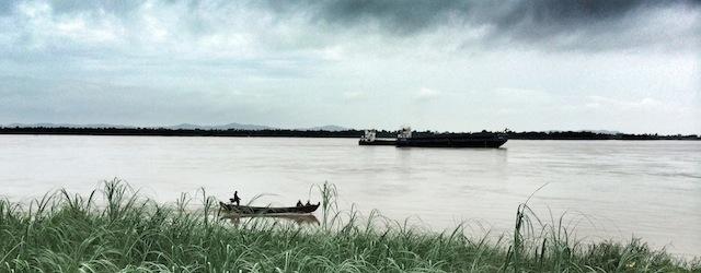 Cargo ship in mawlamyine